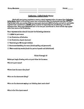 Group activity-Catherine Called Birdy Novel