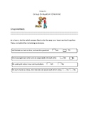 Group Activity Evaluation/Assessment Checklist