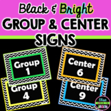 Black and Bright Group and Center Numbers 1-9