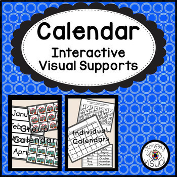 Calendar Using Interactive Supports for Classroom and Individual Use