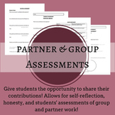 Group and Partner Self-Assessments