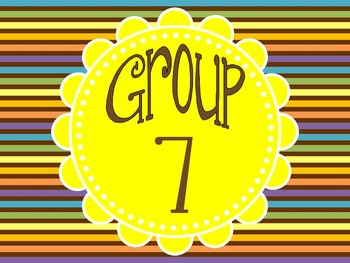 Group and Table Numbers