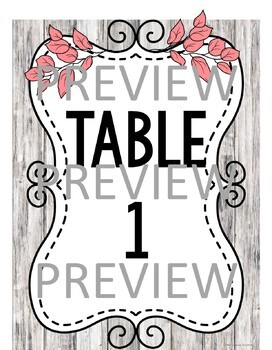 Group and Table Posters 3 STYLES!