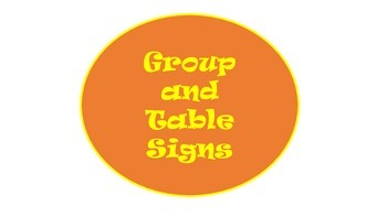 Group and Table Signs