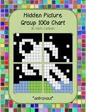 Group hidden picture hundreds chart - astronaut