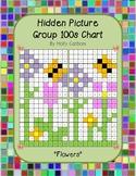 Group hidden picture hundreds chart - flowers