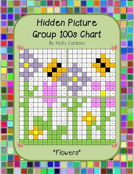 Group hidden picture hundreds chart - flowers