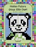 Group hidden picture hundreds chart - panda