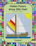 Group hidden picture hundreds chart - sailboat