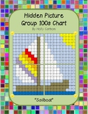 Group hidden picture hundreds chart - sailboat