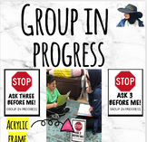 Group in Progress Stop Sign