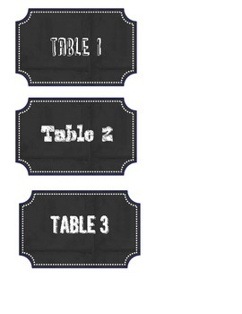 Group labels Chalkboard Style