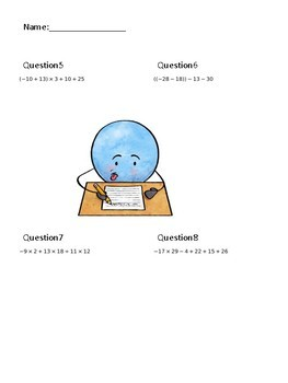 Planet Bellwork Presents: BEDMAS (8 FREE Order of Operations questions)