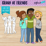 Group of Teen Friends Clipart | Secondary Teen Students