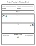 Group planning and reflection sheet