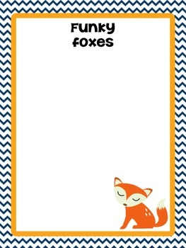 Group posters - Woodland creatures (fox, owl, squirrel, hedgehog)