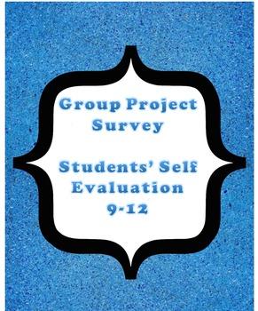 Group project survey - self evaluation