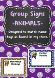 Group signs - Perfect for reading groups, maths groups etc