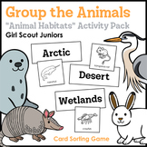 """Group the Animals - Girl Scout Juniors - """"Animal Habitats"""" (Step 2)"""