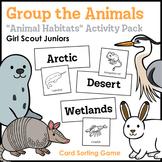 "Group the Animals - Girl Scout Juniors - ""Animal Habitats"""