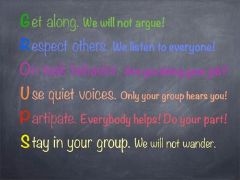 Group work expectancy poster
