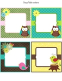Group/Table number labels (classroom decoration) Owl Theme