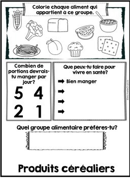 Groupes alimentaires - livre à cachettes (French Food Groups - Flip Book)