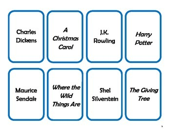Grouping Activity:  Literary Match Up