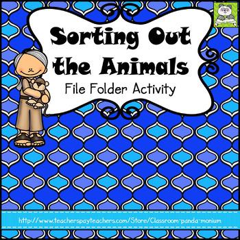 Animal Groups File Folder Activity