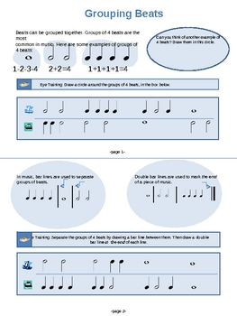 Grouping Beats (Bar Lines and Double Bar Lines)