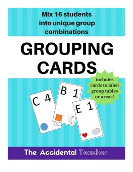 Grouping Cards - 16 students, groups of 4