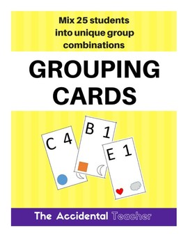 Grouping Cards - 25 students, groups of 5