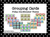 Grouping Cards Polka Dot Monster Theme