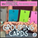Grouping Cards for Middle School - Now for Distance Learning!