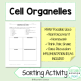 Grouping Cell Parts by Function Worksheet Reinforcement Homework