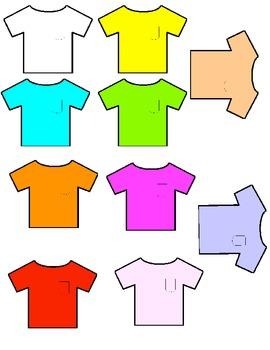 Classroom Management- Grouping/ Matching Tee Shirt Cards