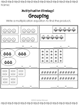 Grouping Multiplication Strategy Practice