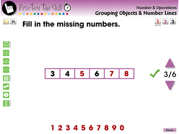 Number & Operations: Grouping Objects & Number Lines - Practice 1 - MAC Gr. PK-2