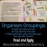 Classification: Organism Grouping Read and Apply Interacti