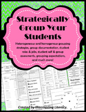 Grouping Packet: Strategies, Documentation, Expectations & Self-assessment