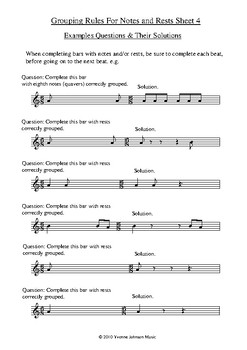 Grouping Rules For Notes And Rests In 6/8 Sheet 4