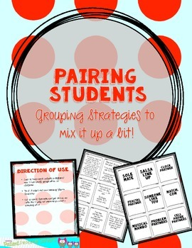Grouping Students Ideas: Collaboration moves to mix things up!