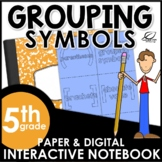 Grouping Symbols Interactive Notebook Set {Freebie}