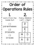 Grouping Symbols Order of Operations