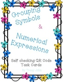 Grouping Symbols and Numerical Expressions Task Cards