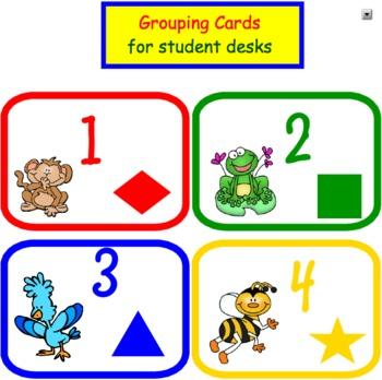 Grouping Team Cards for Student Desktops