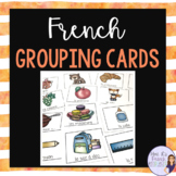 Grouping cards for French class
