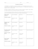 Grouping the Elements Worksheet