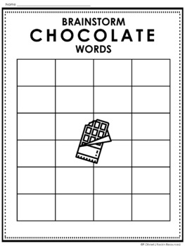 Grouping with Chocolate Words- Free