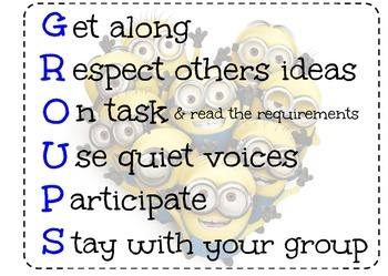 Groups Acronym Poster (Minions)